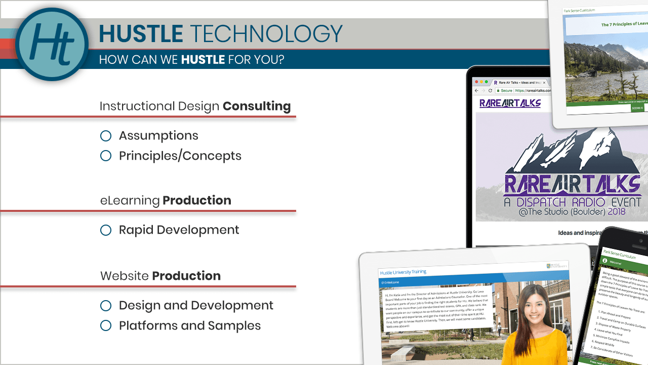 HUSTLE Technology Rapid Dev Sample